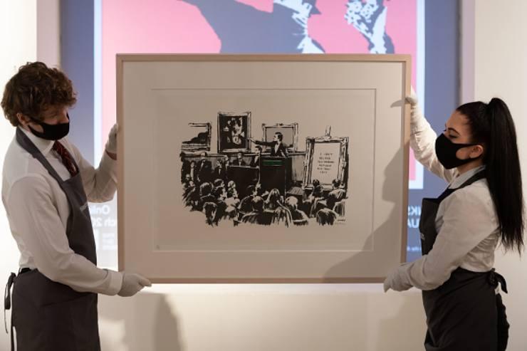 NFT impossibil da falsificare eppure un finto Banksy è stato venduto a 300.000$